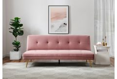 Jade - 'Click Clack' Sofa Bed in Blush