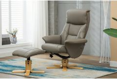 Monet - Swivel Recliner & Stool