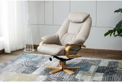 Petra - Swivel Recliner & Stool