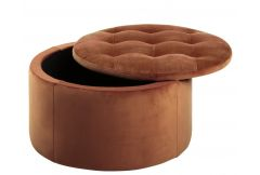 Riva - Storage Ottoman in Copper