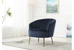 Stella - Accent Chair in Navy