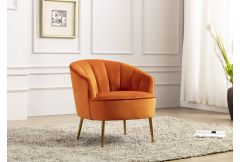Stella - Accent Chair in Pumpkin