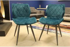 Pair of Velvet Dining Chairs - Clearance