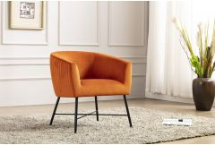 Zara - Accent Chair in Pumpkin