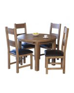 Hampshire - Round Extending Table 107 x 145 cm